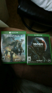 Titanfall 2 et Mass effect Andromeda Xbox one
