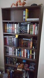 Large dark wood coloured bookcase