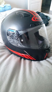 Full Face Motorcycle Helmet Small Black and Red