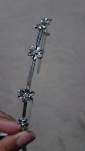 Wedding Accessory - Silver flower headband