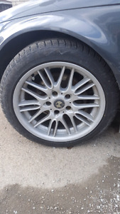 17 inch like new winter tires and bmw rims off 2000 BMW 323ci
