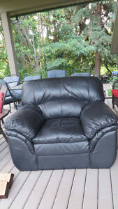 Leather chair, very comfy