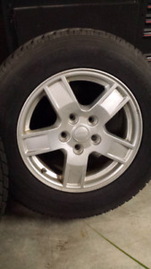 JEEP WINTER RIM AND TIRES 245 65 17