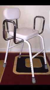 Adjustable Medical Shower Seat Bath Chair w/ Arms and Backrest