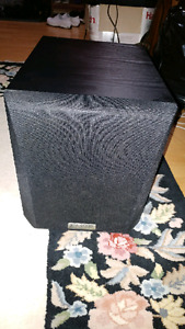 Kenwood powered subwoofer and speakers