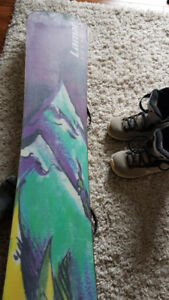 Women's Snowboard and Boots (Size 8)