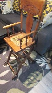 Antique High Chair/Push Cart Kingston Kingston Area image 3