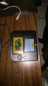 Nintendo 2ds with case and charger