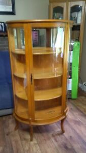 BEVELLED GLASS DISPLAY CABINET