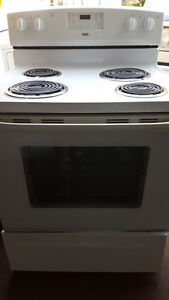 Electric stove 80.00  white, works well, Delivery available