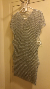 Hand made sleeveless  Stainless Steel Chainmail Shirt