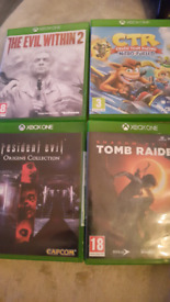 X BOX ONE GAMES IN MINT CONDITION