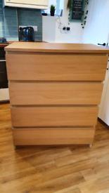 IKEA Malm 4 drawer unit