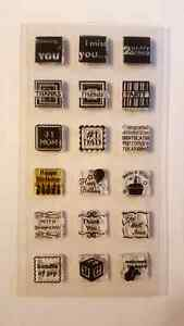 Clear Stamps sets and Acrylic blocks Strathcona County Edmonton Area image 2