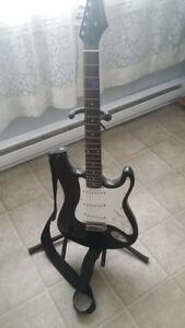 Silvertone Electric guitar and accessories.