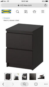 IKEA MALM 2-drawer chest - $34.50