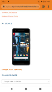 Google Pixel 2, 64GB, Black with case WILLING TO NEGOTIATE