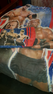 Wrestling quilt cover with matching pillowcase must go Huntfield Heights Morphett Vale Area Preview