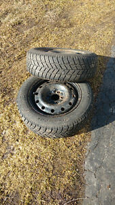 "5x115 16"" Hankook snow tires/rims"
