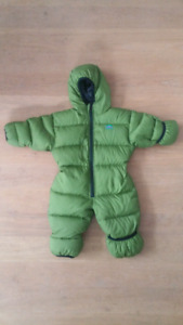 Childrens bunting suit and winter coat