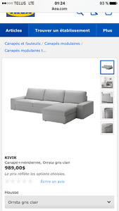 Sofa sectionnel Kivik Ikea
