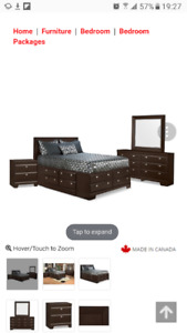 6 piece Yorkdale Queen size storage bed set