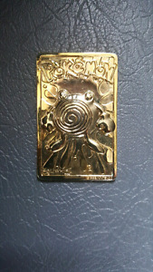 23k gold plated pokemon trading card