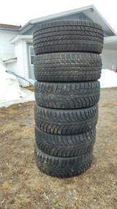 6 pneus  hiver 205, 55, r 16