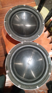 "Two 12"" 1500 watt eclipse subwoofers $85 each or $150 for both."