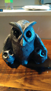 Soap stone owl and babies art by wolf
