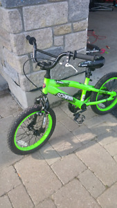 neon-green Schwinn BMX bike 16' $100 firm