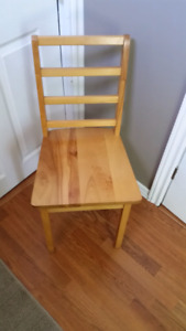 Solid wood desk chair