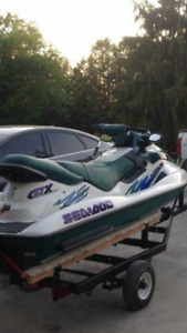 3 man Seadoo with cover and trailer