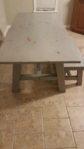 Table and Bench Seat