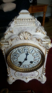 EARLY FRENCH PORCELAIN CLOCK WITH JAPY FRERES MOVEMENT