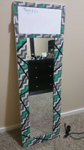 Mirror with white board
