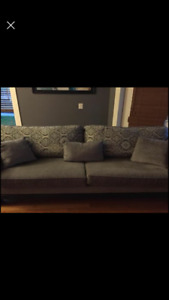 like new brick sofa with hide a bed matching love seat & ottoman