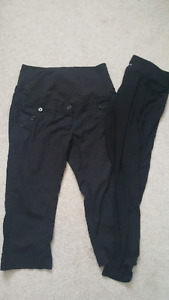 Black maternity capris and blk leggings size med