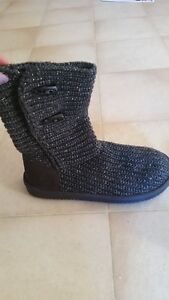 Grey Knitted Boots