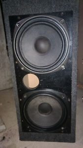 Two twelve inch subs in box a unclosed sub and stereo