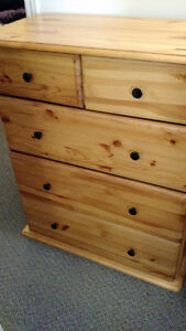 SOLID PINE 5 DRAWER DRESSER WITH ROUTED EDGES