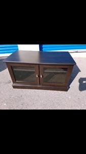 Wood espresso TV stand