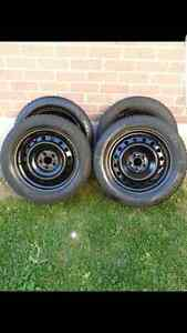 16 INCH WINTER TIRES AND RIMS FOR SALE
