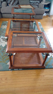 2 side tables & 1 coffee table set, end tables $100 OBO