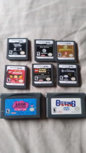 8 gameboy games and n64 accessories