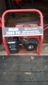 king canada pressure washer 2000 psi with new pump