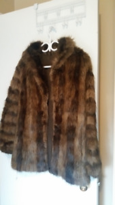 Women's Beaver Fur Coat 3/4-length