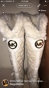 White MK Boots rain boots/ winter boots