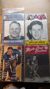 Toronto Maple Leafs Vintage Programs.