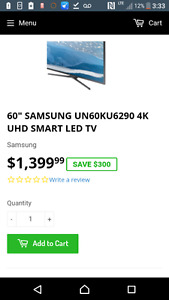 60 inch samsung ultra Hd tv for sale